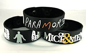 A Day To Remember And Of Mice & Men And Paramore Admmp3 New 3Pcs(3X) Bracelet Wristband