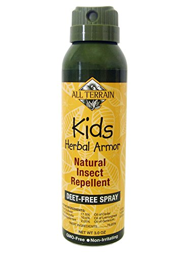 All Terrain Kids Herbal Armor DEET-Free Insect Repellent, 3 Ounce, Safe for Sensitive Skin, Effective Bug Spray Formula with Natural Essential Oils, Great for Travel, Camping, & Outdoor Activities - Herbal Mosquito Repellent