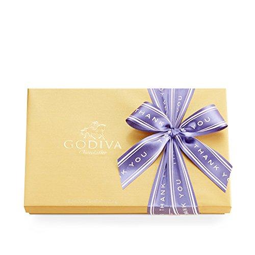Godiva Chocolatier Gold Ballotin Candy, Thank You, 36 Count