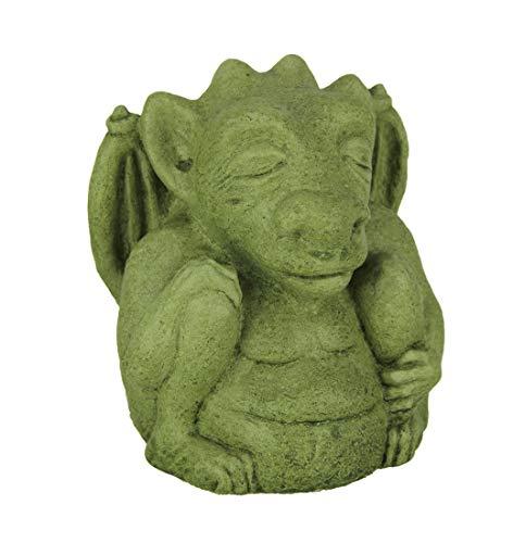 Designer Stone Mossy Green Meditating Gargoyle Concrete ()