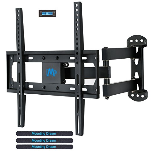 Mounting Dream MD2377 TV Wall Mount Bracket for most of 26-55 Inch LED, LCD, OLED Flat Screen TV with Full Motion Swivel Articulating Arm up to VESA 400x400mm and 60 lbs with Tilting (Move Led)