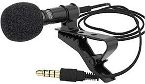 Teconica HE438 Collar Mic Voice Recording Filter Microphone for Singing, YouTube Compatible for All Smartphones Devices (Multi Colour)
