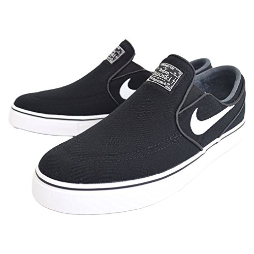 competitive price c10e5 cec59 Galleon - NIKE Men s Zoom Stefan Janoski Slip CNVS Skate Shoe Black White- Black 7 D(M) US