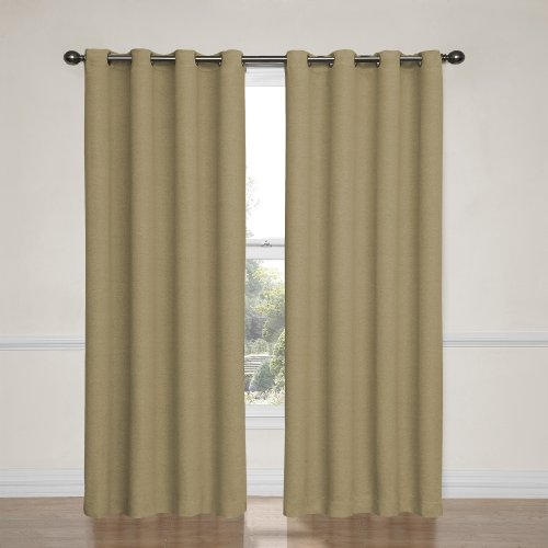 (Eclipse Blackout Curtains for Bedroom-Bobbi37 x 63