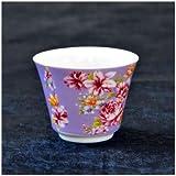 茶杯 花布柄 パープル