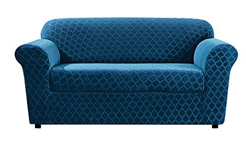 SureFit Stretch Grand Marrakesh 2-Piece - Sofa Slipcover  - Nile Blue (SF45878)