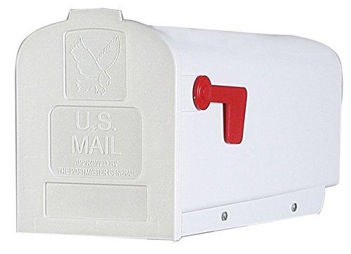 Fulton 20410043 Standard Size Plastic Rural Mailbox White