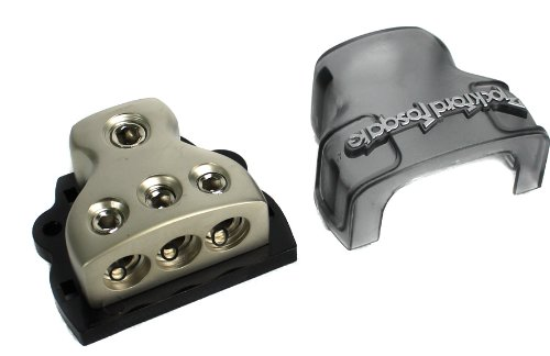 Rockford Fosgate RFD4 1/0 AWG 4 AWG Distribution Block - Platinum