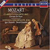 Clarinet Concerto, K622, Sinfonia Concertante KV 364