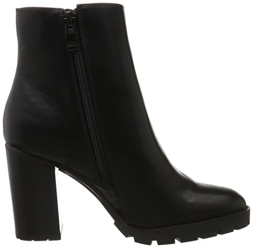 01 54 Black 0 Black Pu Buffalo P1735a B118a Ankle Women's Boots S6OEqzfFW