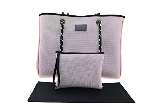 Beach Bags for Women Multifunctional Waterproof Travel Totes with Inner Zipper Pocket Royal Fair (Pink) by Royal Fair