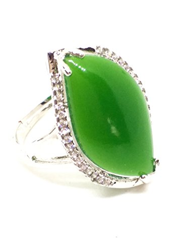 - 925 silver natural Hetian jade ring jasper gemstone