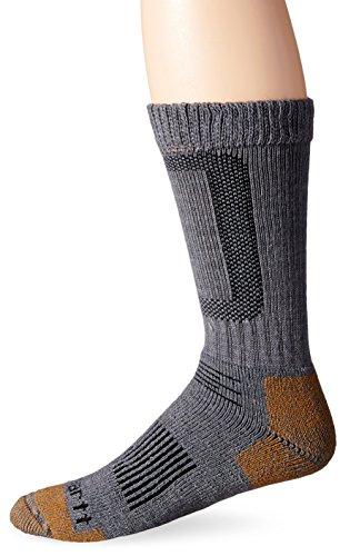 Carhartt Men's Comfort Stretch Steel Toe Socks,  Heather Grey, Sock Size:10-13/Shoe Size: 6-12 (Crew Toe Socks Stretch)