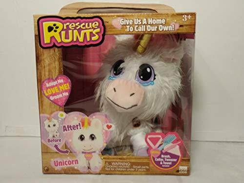 Rescue Runts KD Kids Unicorn White with Pink Mane
