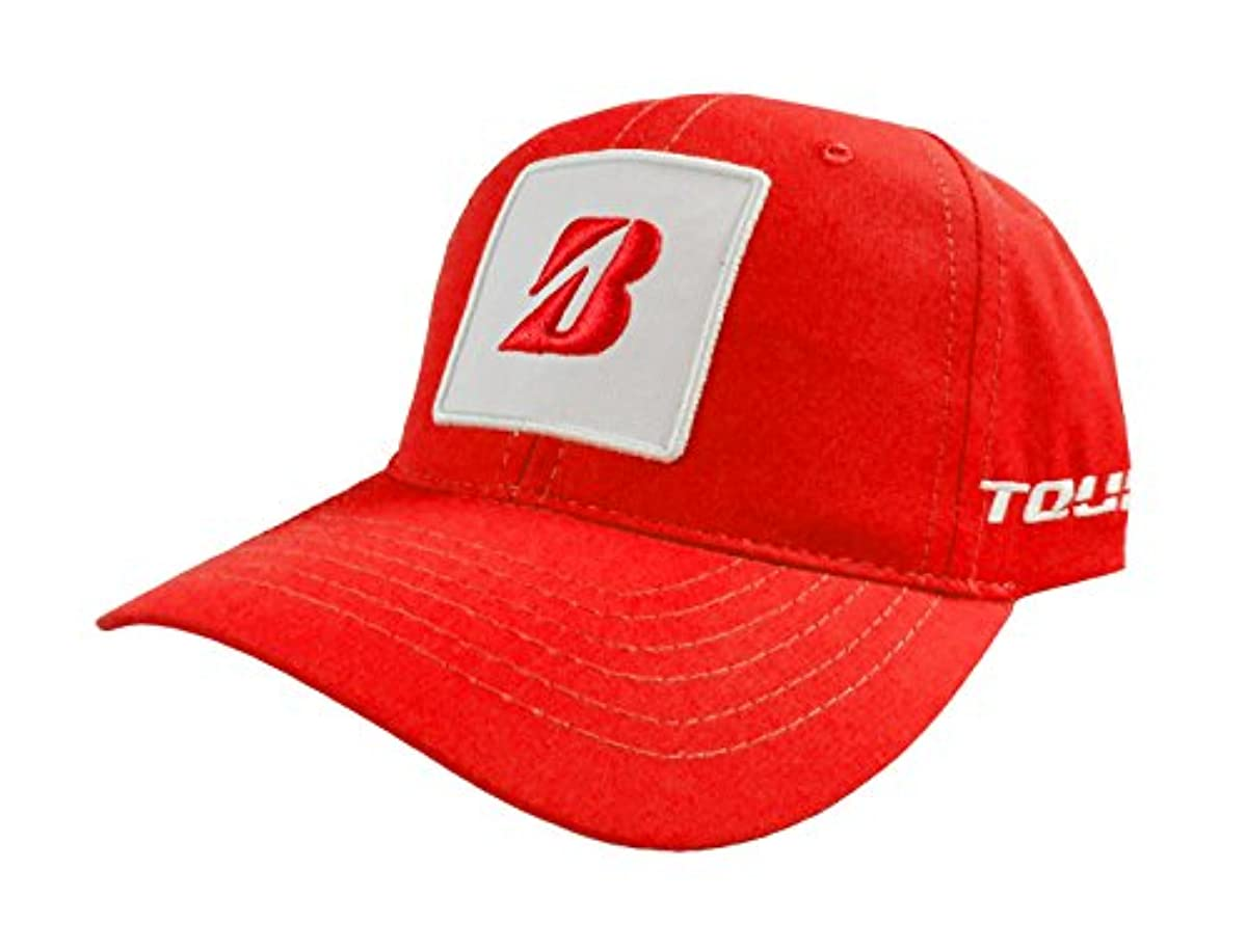 [해외] 새로운 브리지스톤 골프KUCHAR콜렉션 레드/화이트 조절 가능한 모자/캡