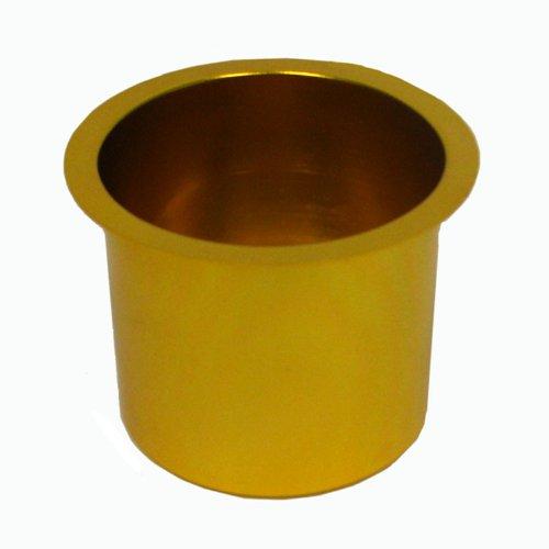 Trademark Poker Jumbo Aluminum Poker Table Cup Holder (Gold)
