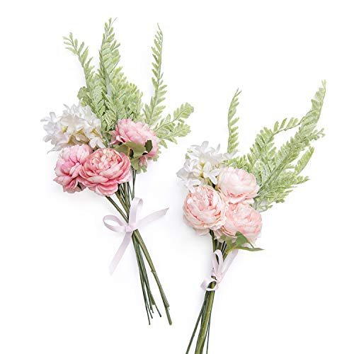 Ling's moment Artificial Flowers Blush Pink Silk Cabbage for sale  Delivered anywhere in USA