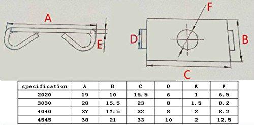 Ewead,10pcs M12 Elastic Connector End Spring Fastener for 4545 Aluminum Profile Accessories by Ewead (Image #4)
