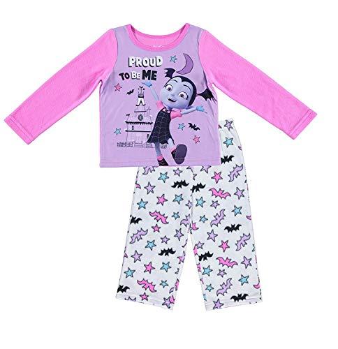 Disney Jr Girls Vampirina Pajamas - 2-Piece Long Sleeve Pajama Set (Pink/White, -