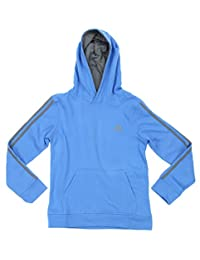 adidas Youth (8-20) Boys Game Time 3-Stripe Pullover Fleece Hoodie, Color Options