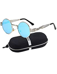 Men's Polarized Sunglasses UV Protection Sunglasses for Men & Women Youtato Brand-new Fashion Classic Vintage Round Lenses Ultra Lightweight Metal Glasses