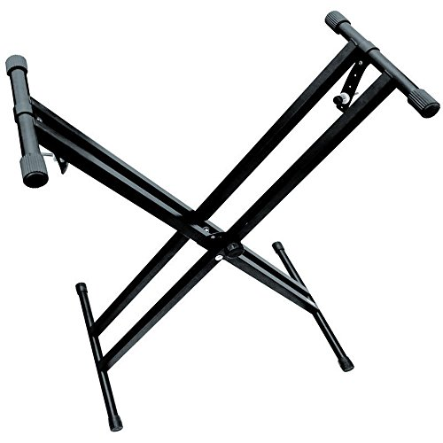 Piano Keyboard Stand Heavy-Duty, Double-X, Pre-Assembled, In