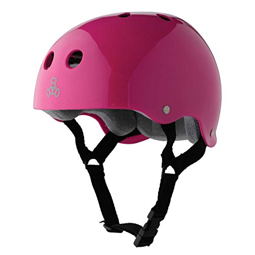 Triple 8 Brainsaver Rubber Helmet with Sweatsaver Liner