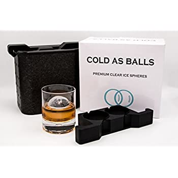 Corkcicle Whiskey Wedge Double Old Fashioned Glass Silicone Ice Form