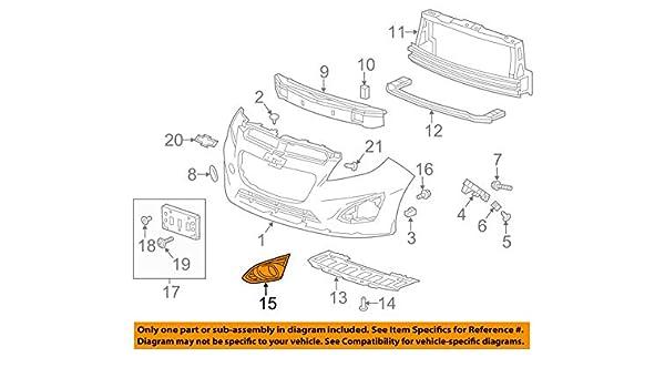 Chevrolet GM OEM 13-15 Spark Front Bumper Grille-Trim Cover Left 95078762