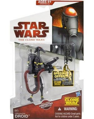 Star Wars 2009 Clone Wars Animated Action Figure CW No. 47 Firefighter Droid