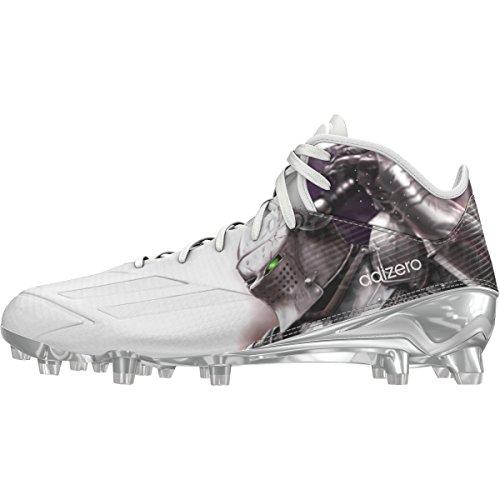 Adidas Adizero 5Star 5.0 Mid Uncaged Mens Football Cleat 9 Knight-White-Platinum