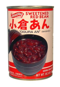 Red Sweetened Beans (Shirakiku - Ogura An (Sweetened Red Beans) 18.3 Oz.)