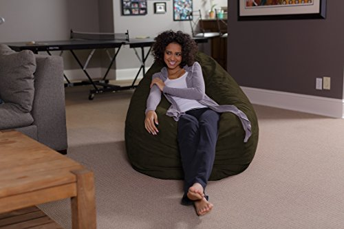 Sofa Sack – Plush, Ultra Soft Bean Bag Chair – Memory Foam Bean Bag Chair with Microsuede Cover – Stuffed Foam Filled Furniture and Accessories for Dorm Room – Olive