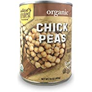 Nature's Greatest Foods, Organic Chick Peas, Vegan, Gluten Free, Ready to Serve, 15 Ounce (Pack of 12)