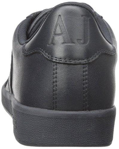 Armani Jeans Heren Actie Leer Mode Sneaker Marine