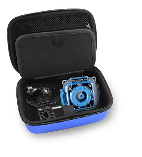 Casematix Blue Kids Camera Case Compatible with Ourlife, Dragon Touch Kidicam, Kids Waterproof Camera Video Recorder, Accessories and More