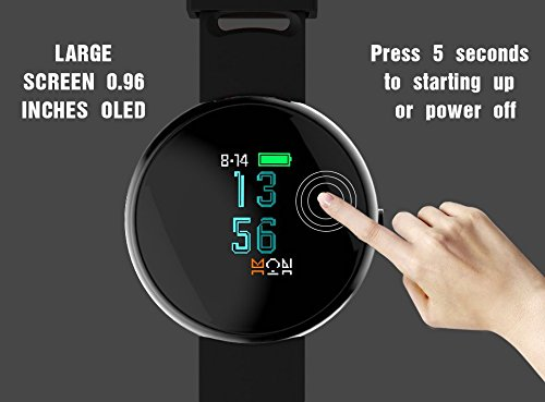 Paick Fitness Tracker Activity Tracker Hear Rate Monitor Blood Pressure Smart Bracelet Bluetooth Wristband Sleep Monitor Call Reminder Waterproof Smart Watch for IOS Android