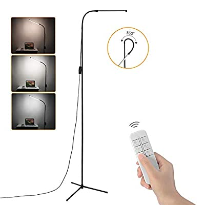 Vorally Floor Lamp for Living Room, Craft LED Floor Lamp Remote and Touch Control, Dimmable Reading Standing Lamp Adjustable Long Lifespan 1000 Lumen 3 Color Temperature 8W