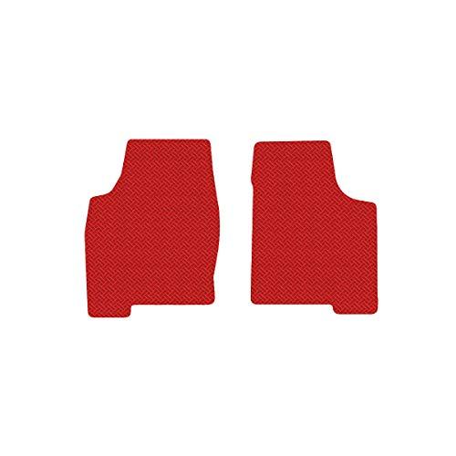 Brightt (MAT-MBZ-516) 2 Pc Front Floor Mats - Red All-Weather Rubber Weave Pattern - compatible with 1963-1967 Corvette Coupe (1963 1964 1965 1966 1967 | 63 64 65 66 67) (64 65 66 67 Corvette)