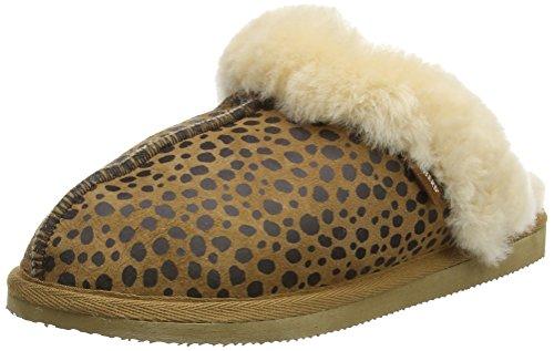 Shepherdjessica Por Multicolore Mujer De Zapatillas Multicolor Estar Casa leopard OrncqOTt6