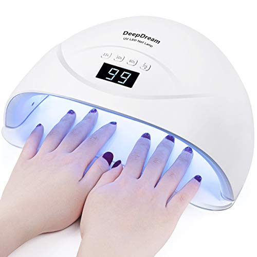 DeepDream SUN8 54W LED UV Nail Lamp, Gel Nail Polish Curing Lamp,Two Hand and Toe Nail Dryer, Gel UV Light with Auto Sensor Professional Nail Art Tools
