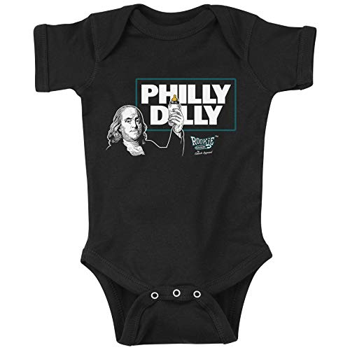Rookie Wear by Smack Apparel Philadelphia Football Fans. Philly Dilly Black Onesie & Toddler Tee (NB-4T) (6 Month)