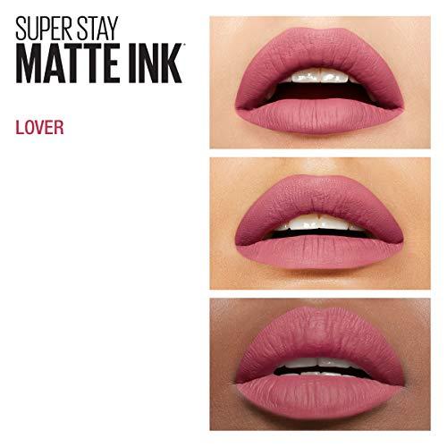 Maybelline New York SuperStay Matte Ink Liquid Lipstick, Lover, 0.17 fl. oz.