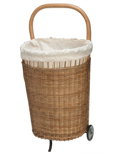 - KOUBOO Wicker French Market Basket with Liner