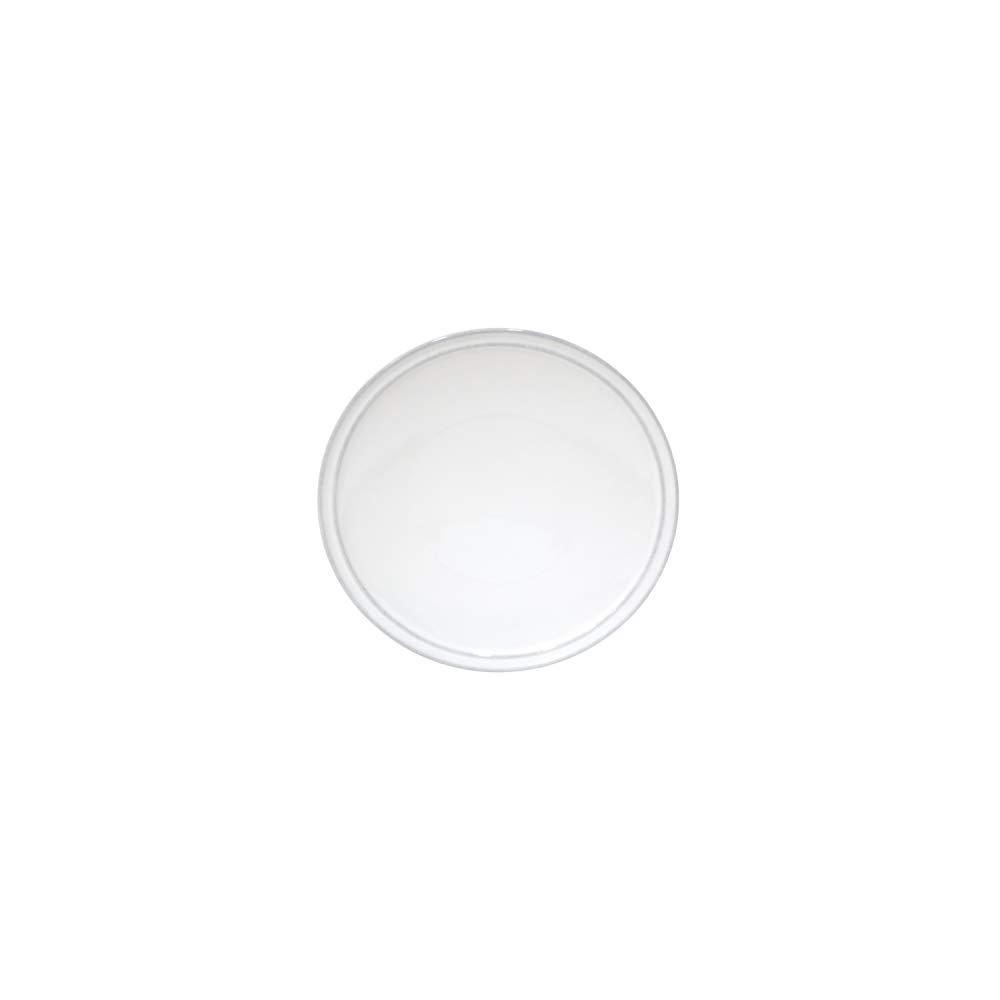 COSTA NOVA Friso Collection Stoneware Ceramic Bread Plate 2-Piece Set White 6.5