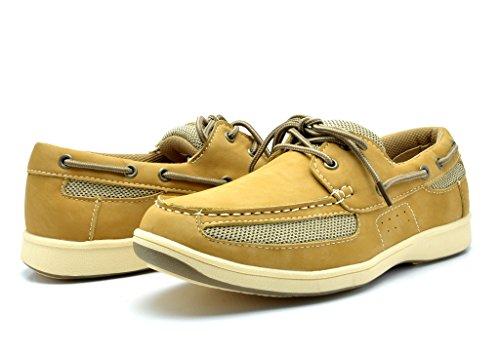 KINGSHOW Men's M1525 Boat Shoes 12 M US ()