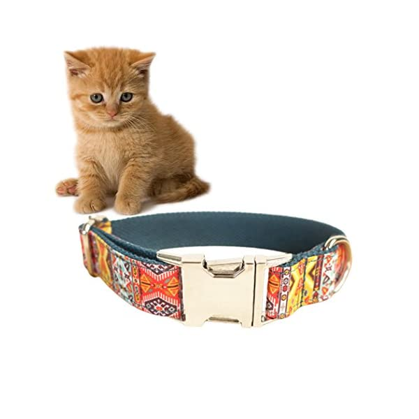 Legendog Print Dog Collar Fashionable Alloy Buckle Dog Collar Adjustable Pet Collar for Dog Cat Size M Click on image for further info. 3