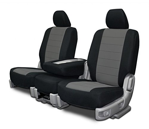Custom Fit Seat Covers For Ford F-150 60-40 Seats - Charcoal Neoprene Fabric