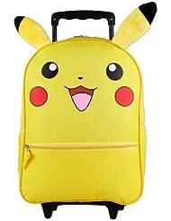 Full size Pokemon Pikachu Wheeled Rolling Backpack