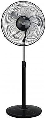 Ventilador De Pie Duster Negro/aluminio 3 Velocidades